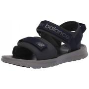 New Balance 250 V1 Sandalias Ajustables para Hombre, Gris/Negro, 11 US Estrecho