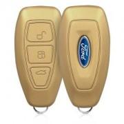 kwmobile Silikonový obal na autoklíč pro Ford - zlatá