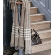 Plaid Addict Plaid Pure Laine Naturel Beige et Blanc