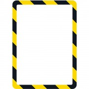 Tarifold Präsentationssichthülle DIN A4 mit magnetischem Verschluss, selbstklebend gelb / schwarz, VE 2 Stk