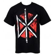 tricou stil metal bărbați Dead Kennedys - Distressed DK Logo - PLASTIC HEAD - PH5808