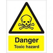 Unbranded Warning Sign Toxic Hazard Plastic 30 x 20 cm