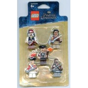 LEGO Minifigures Figures Set Pirates of the Caribbean Battle Pack Figure Jack Sparrow Scrum Lieutenant Theodore Grove and 2 Zombie Pirates