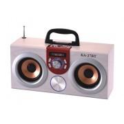 Hordozható hangszóró Bluetooth multimédia lejátszó Led világítás akkumulátorral Mp3,FM-Rádió, 3,5 jack, USB, Micro SD kártya - KA-27BT