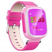 Smartwatch Infantil de Monitorização GPS com Função Mãos Livres Q70 - Rosa