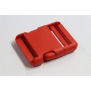 Steckschnalle aus Kunststoff 50 mm rot