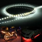 45 LED 3528 SMD waterdichte flexibele auto Strip licht voor auto decoratie DC 12V lengte: 90cm (wit licht)