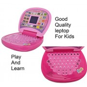 JMK Educational Learning Kids Laptop, LED Display, with Music Learn Numbers and Alphabets + ( FREE 1 video game ) for kids