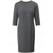 Basler Dames Jurk met iets langere 3/4-mouwen Van Basler grijs