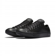 Converse All Star Leather Shoes 135253C Black Size 4.5