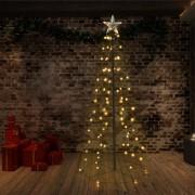 vidaXL Коледна елха конус, 96 LED, закрито и открито, 72x180 см