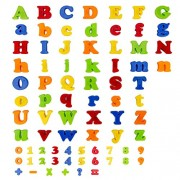 Flycreat Magnet Alphabet Puzzle Numbers and English Alphabet DIY Educational Toys Early Childhood Education Early Development Blocks Ferromagnetic Cute Design Colorful Arithmetic Symbols Included Magnet Block Color Incognito Increasing Consciousness The B