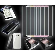 Wigento Härdat glas / helskärm härdat glas / TPU hybrid tank slide / TPU Silikon ärm för många Smartphones