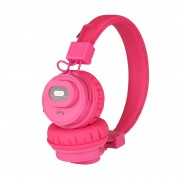 NIA-X5SP Foldable Bluetooth Headset + Speaker Support Micro SD Card Play / FM Radio / APP Control - Rose