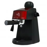 Espressor Samus Alegria Red, 3.5 bari, Rezervor 0.24 L, Capacitate 4 ceşti, Filtru inox, Dispozitiv spumare, Cană gradată, Negru/Inserții rosii
