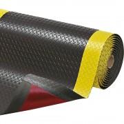 Anti-Ermüdungsmatte pro lfd. m, PVC, schwarz / gelb Breite 1520 mm
