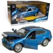 Auto 1:26 BMW X6 plavi 68250A