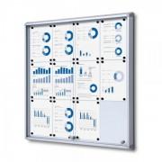 Jansen Display Interiérová vitrína 12xA4, posuvné dveře, metalová záda
