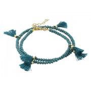 Marc Jacobs Laila Crystal Wrap Bracelet Teal