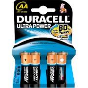 Duracell Lr6/mx1500 Pile Stilo Aa 1,5v Confezione Da 4 Batterie Con Tester Powercheck - Lr6/mx1500 Ultra Power