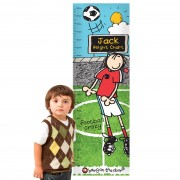 Personalised Height Chart - Bang on The Door Football Crazy