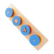 FashLady Baby Kids Montessori Sensorial Wooden Toy - Geometric Inlay Match Board Gift