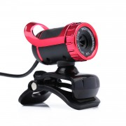 A859 Computer HD High Definition Video USB Camera Built-in Microphone - Red