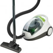 Aspirator fara sac Vortex VO4505, 2 L, 800 W, Filtru HEPA, Perie de podea, Perie pentru spatii inguste, Alb/verde