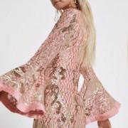 River Island RI Petite - Roze verfraaide maxi-jurk met pailletten voor meisjes Dame