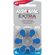 Rayovac Extra Advanced 675 Blå 6st