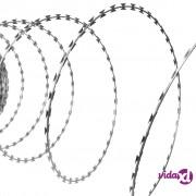 vidaXL NATO oštra bodljikava žica od pocinčanog čelika, 60 m
