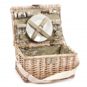 Coș picnic pentru 2 persoane cu mâner