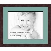 Arte a marcos doble-multimat 527-818/89-FRBW26061 alfombrilla de fotos con Collage enmarcado alfombra doble con 1-11 x 14 aberturas y café exprés marco