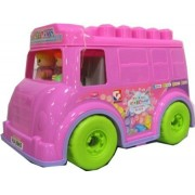 Goldkids My First Play and Learn Building Blocks Box of Fun Pink Van