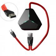 REMAX RU-U3 Micro USB de escritorio 3-USB HUB w / OTG - Rojo + Negro