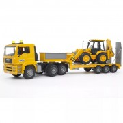 Bruder Lorry with Low Loader and Excavator MAN TGA 1:16 02776