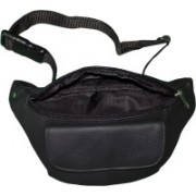 Style 98 Style 98 Black Pure Leather Waist Bag For Men Waist Bag(Black)