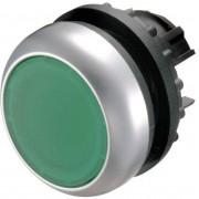 Buton plat, iluminat, IP 67, 29.7 x 10 mm, marcare O, alb