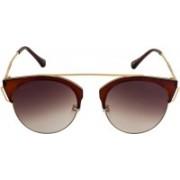Voyage Cat-eye Sunglasses(Brown)