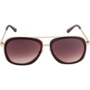 Voyage Oval Sunglasses(Brown)