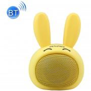 Awei Y700 Conejo Mini Portable Wireless Bluetooth Altavoz, Microfono Incorporado, Soporte Aux / Llamada Manos Libres (Amarillo)