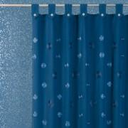 Perdea baie textil albastra Camelia