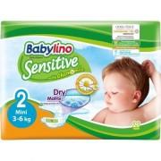 Scutece Babylino Sensitive cu musetel - dimensiunea Mini nr. 2 - 3-6 kg x 26 bucati