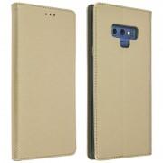 Avizar Capa Livro Dourada Trançada para Samsung Galaxy Note 9