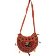 Craft Trade Girls Multicolor D Shaped Shoulder Bag Multicolor Sling Bag