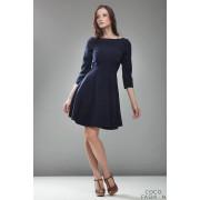 Blue High Elegance Workwear Skater Dress