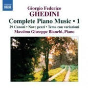 G.F. Ghedini - Complete Piano Music 1 (0747313232970) (1 CD)
