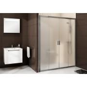 Ravak Blix BLDP4-170 toló rendszerû négyrészes zuhanyajtó fehér kerettel, transparent edzett biztonságiüveg betéttel