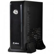 CASE, E-mini 3001, Mini-ITX, Black/Silver (CASEM3001SDC5A)