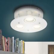 vidaXL Rund taklampa LED med 3 glödlampor